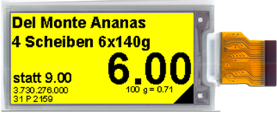 2.13″ E ink Display – Yellow
