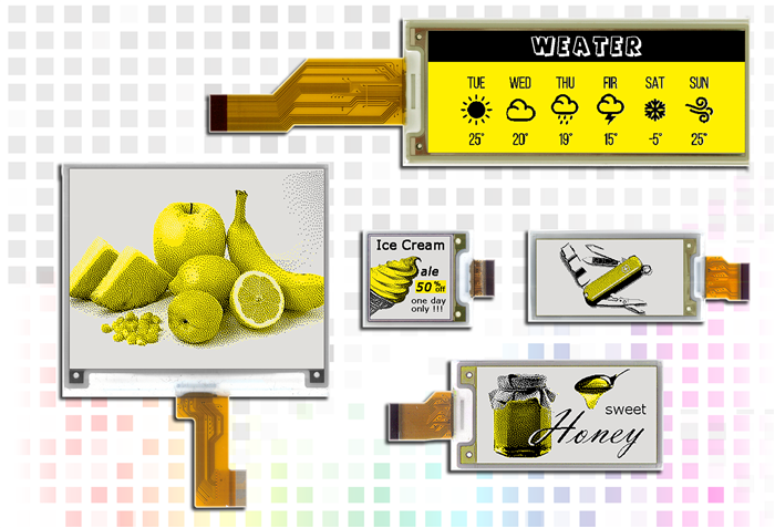 yellow tri-color e-paper displays